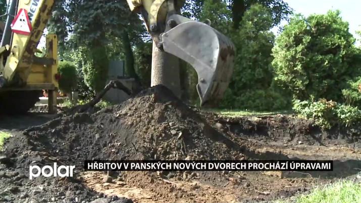 Hřbitov v Panských Nových Dvorech prochází opravami