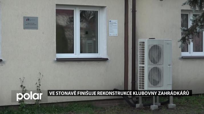 Ve Stonavě finišuje rekonstrukce klubovny zahrádkářů