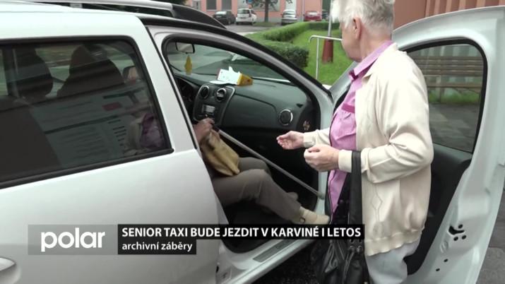 Senior taxi bude jezdit v Karviné i letos