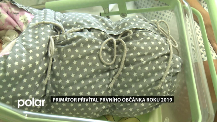 Primátor přivítal prvního občánka roku 2019