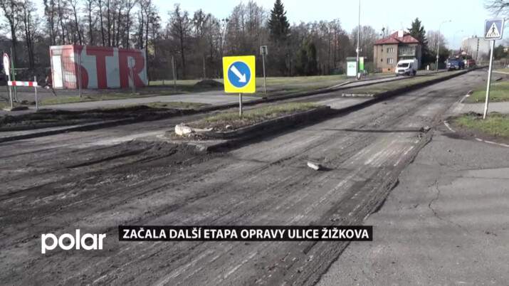 V Karviné začali s II. etapou opravy ulice Žižkova