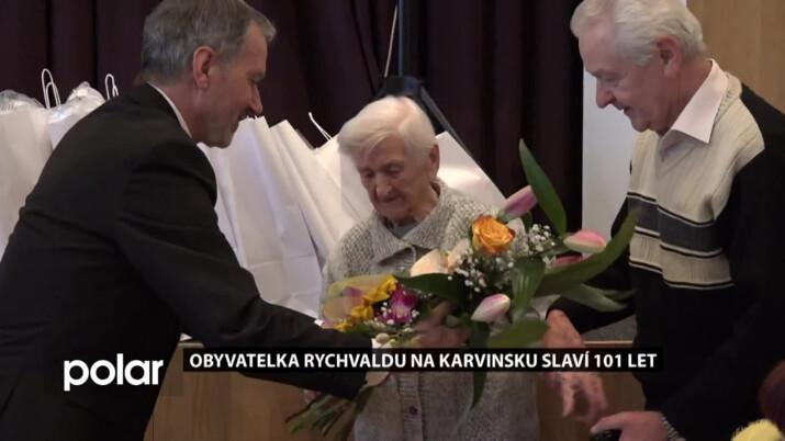 Obyvatelka Rychvaldu na Karvinsku slaví 101 let