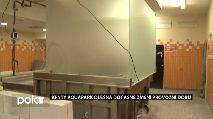 Odstávka v krytém aquaparku na Olešné. Víme, jak se změní provozní doba