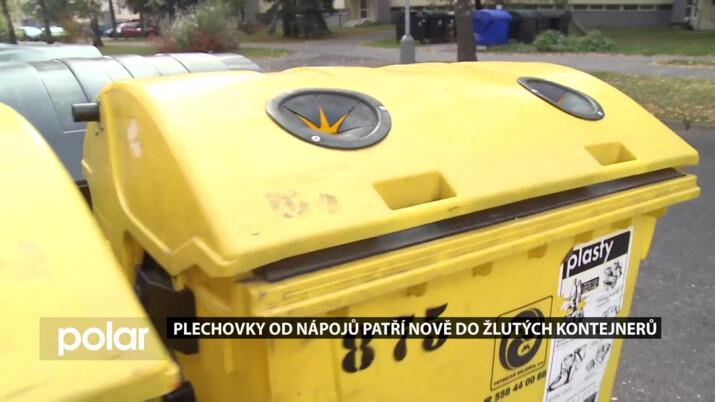 Plechovky nově do žlutých kontejnerů. Frýdek-Místek rozšířil možnosti třídění odpadu