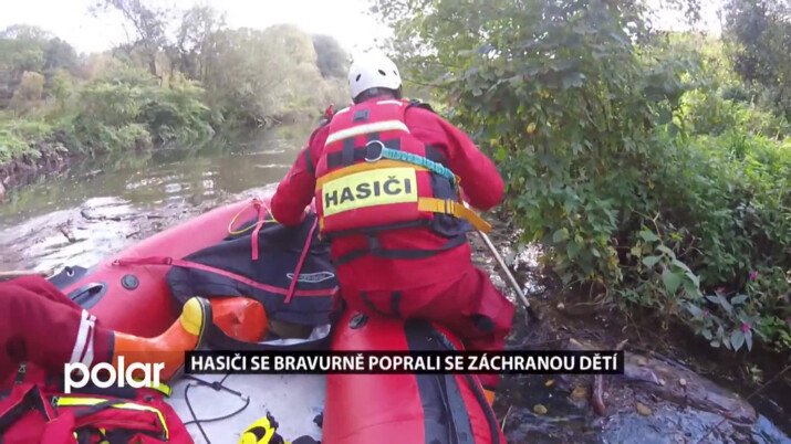 Karvinští hasiči bravurně zvládli cvičnou záchranu dětí z mokřad