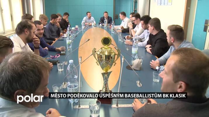 Baseballisté BK Klasik F-M vyhráli 1. ligu. Za skvělou reprezentaci jim osobně poděkovalo vedení města