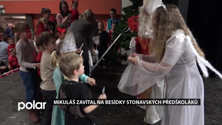Mikuláš zavítal na besídky stonavských předškoláků,  obohaceny byly jarmarkem