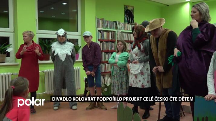 Čtenou pohádku v rámci projektu Celé Česko čte dětem hned zahrálo divadlo