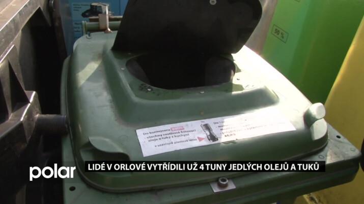 Novinka v odpadech radnici nezaskočila. Lidé v Orlové vytřídili už 4 tuny jedlých olejů a tuků
