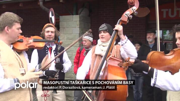 Masopustní taškařice s pochováním basy v Čeladné