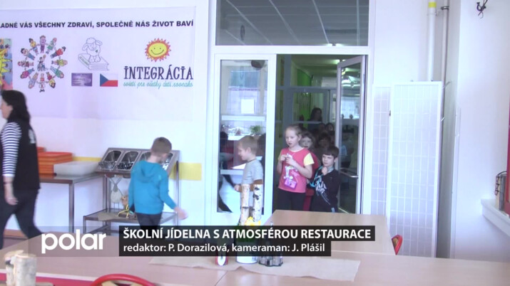 Školní jídelna v Čeladné má atmosférou restaurace