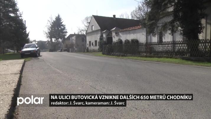 Na ulici Butovická vznikne dalších 650 metrů chodníku