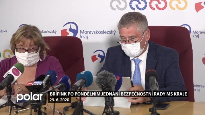 Brífink po jednání Krizového štábu Moravskoslezského kraje - 29. 6. 2020