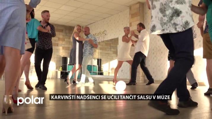 Karvinští nadšenci se učili tančit Salsu v Múze, věnoval se jim mistr ČR v tanečním sportu