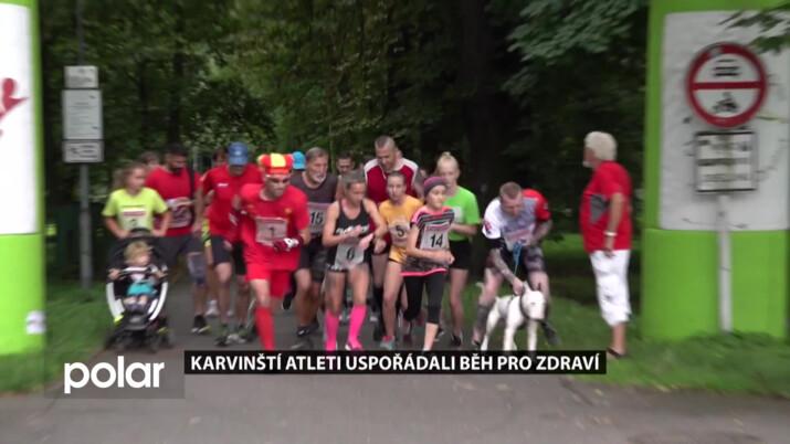 Karvinští atleti uspořádali Běh pro zdraví, prázdninové startovné podpoří ČČK Karviná