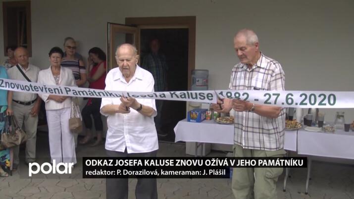 Odkaz Josefa Kaluse znovu ožívá v jeho památníku