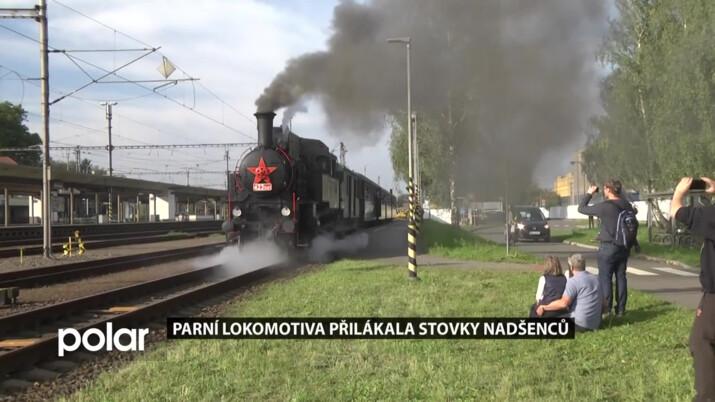 Ze Studénky do Bílovce se 3. října jezdilo historickým vlakem s parní lokomotivou
