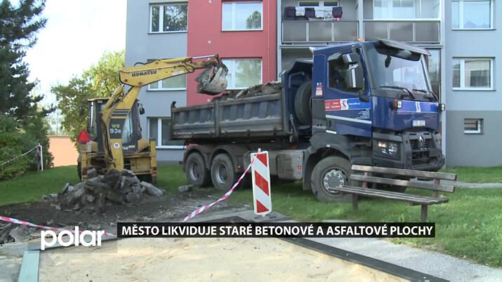 Frýdek-Místek likviduje staré betonové a asfaltové plochy na sídlištích