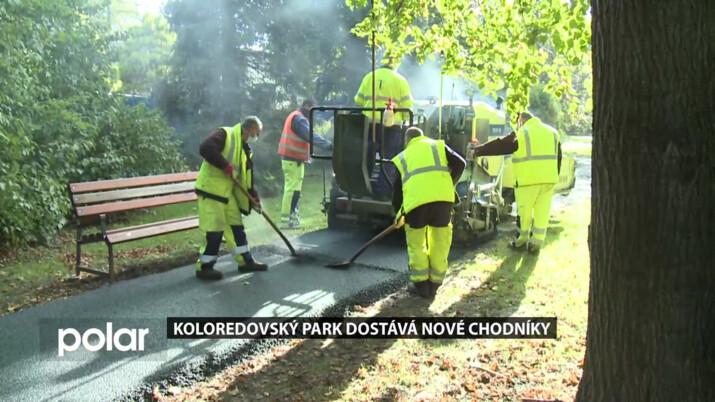 Koloredovský park ve Frýdku-Místku dostává nové chodníky a chystají se i další opravy