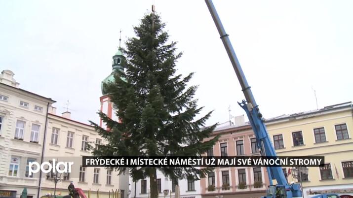 Obě náměstí ve Frýdku-Místku už mají své vánoční stromy, trhy letos bohužel nebudou