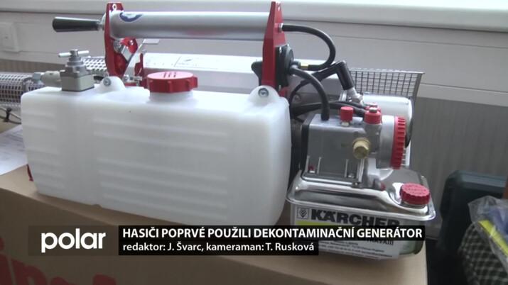 Hasiči ve Studénce poprvé použili dekontaminační generátor, přístroj dostali od Moravskoslezského kraje
