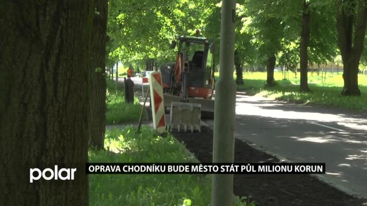 Oprava chodníků bude Studénku stát půl milionu korun