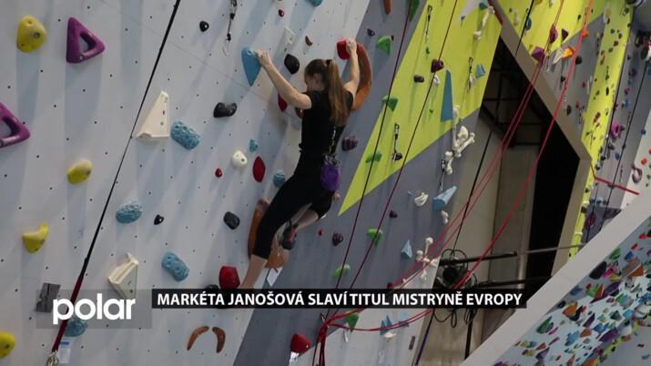 Členka oddílu horolezectví TJ Baník Karviná Markéta Janošová slaví titul mistryně Evropy