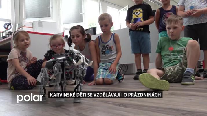 Karvinské děti se vzdělávají i o prázdninách, dochází do kroužku techniky na SPŠ Karviná