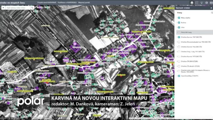 Karviná má novou interaktivní mapu o Staré Karviné