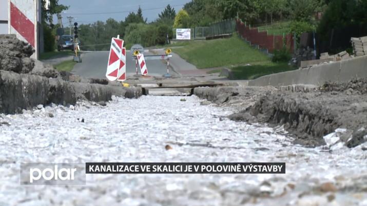 Kanalizace ve Skalici u Frýdku-Místku je v polovině výstavby